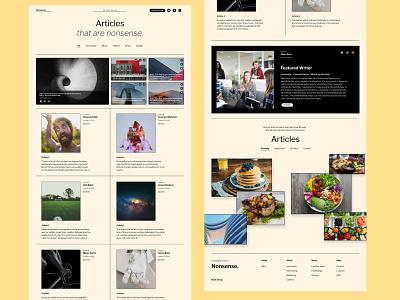 Nonsense... design web landing creative ux ui