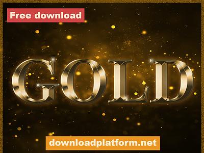 Gold Text Effects text effects text effect psd template psd