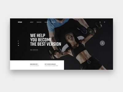 Gymax || Homepage pt gym typography ui ux web blog modern clean