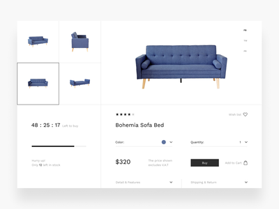 Furniture  ||  Detail Product ecommerce furniture shop web ux ui modern clean