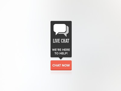 Live Chat Badge chat badge button flat clean simple