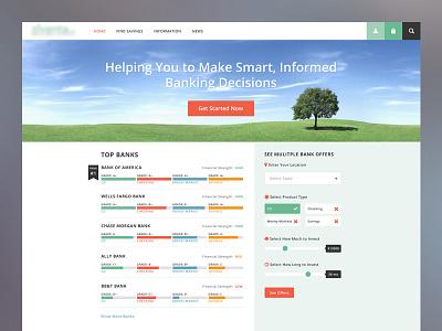 Banking Homepage banking homepage form progress bar minimal flat