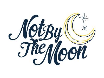 Not By The Moon Logo Exploration logo