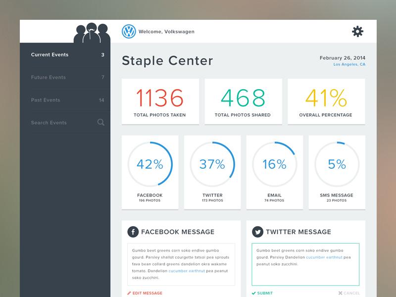 Dashboard Data flat simple clean dashboard charts analytics