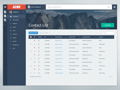 Rollbase Dashboard product enterprise ui flat dashboard