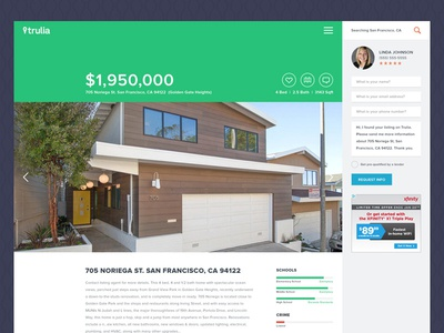 Trulia Listing Page Redesign real estate listing page