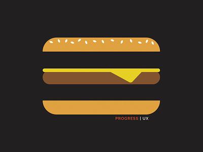Progress Shirt hamburger logo