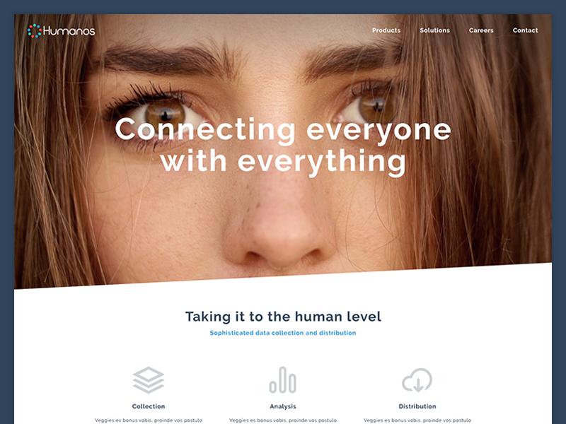 Humanos Landing Page flat simple homepage landing page