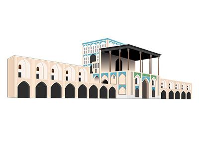 Isfahan Ali Qapu Vector isfahan esfahan ali qapu iran vector of iranian attractions esfahan vector isfahan vector illustration illustrator ali qapu vector isfahan ali qapu vector vector