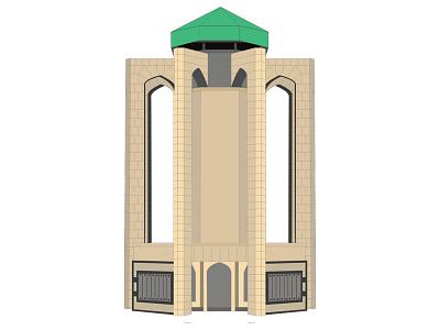 Hamedan Baba Tahir Tomb illustration illustrator vector of iranian attractions baba tahir tomb hamedan baba tahir tomb hamedan vector hamedan iran vector iran
