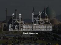 Shah Mosque Vector