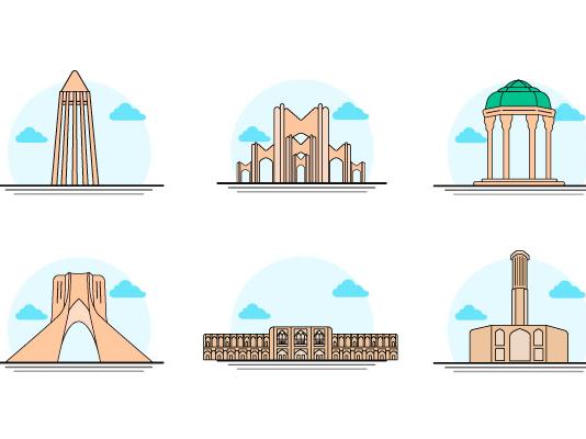 Iran icon vector
