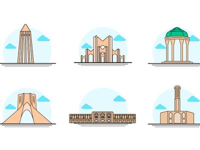 Iran Icon Vector hamedan icon yazd icon shiraz icon tabriz icon tehran icon isfahan icon design illustration illustrator icon iran icon vector iran vector iran