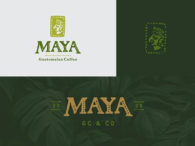 Maya Guatemalan Coffee hospitality restaurant bistro design icon logo illustration branding brand coffee maya