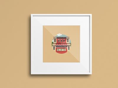 Old Bag Factory - Goshen graphic design illustrator graphic sketch vector indiana design branding illustration logo