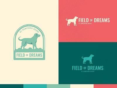 Field of Dreams by Homeward Bound rescue pet animal dog typography vector indiana design brand branding illustration logo