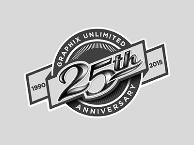 Graphix Unlimited 25th Anniversary anniversary decals 25th year graphix unlimited