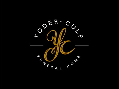 Yoder-Culp Funeral Home indiana goshen classy funeral home logo monogram