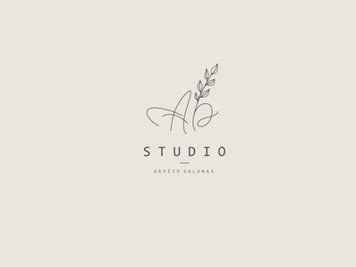 Minimalist logo: AB STUDIO lineart nature art nature logo natural logo abstract logo logofolio minimalist logo type handdrawntype hand drawn beauty product beauty salon logo beauty logo vector illustration typography logo branding minimalism logodesign