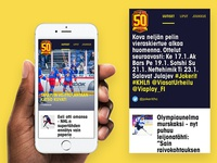 Jokerit app - Newsfeed