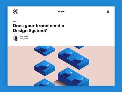 Blog article layout design blog design website design agency design ui