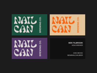 NAILCAN BREWING CO. Business cards