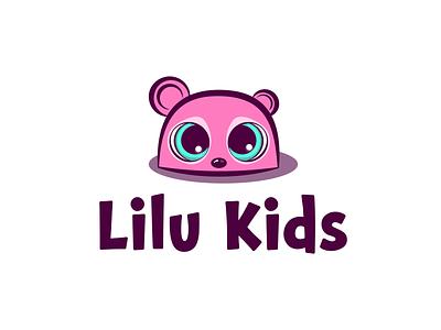 Lilu Kids Logo fun drawing charcter logodesign bigeyes joy illustration kids vector branding logo