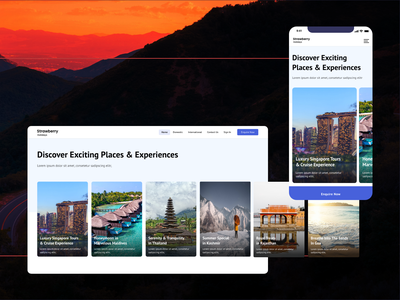 Travel, Holiday, Vacation, Tour Portal UI UX Designing Part 1 mobile first mobile creative clean uiux portal trips vacation trave tour hotel holiday