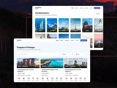 UI UX Designing of A Travel Portal branding cover page modern uiux application design creative ui ux clean website website design