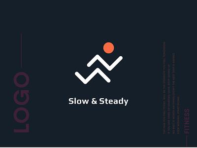Logo Designing   Fitness App running fitness logo design logo