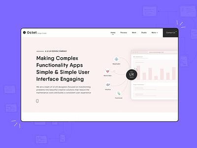 Creative Agency UI UX Designing ui ux landing page website design concept clean company studio agency creative