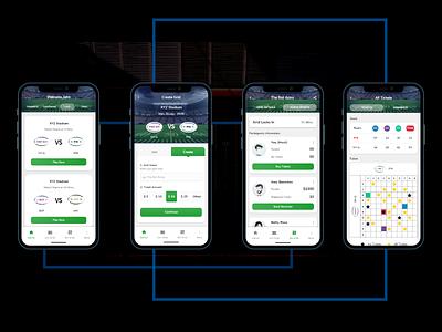 Betting App UI UX Designing branding clean application design ui ux gambling fantasy sports fantasy football betting app