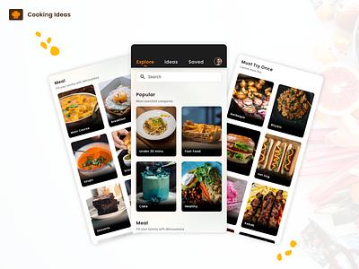 Cooking Ideas App UI UX Designing application design ui ux ui