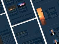 Website Design Dark Theme Concept