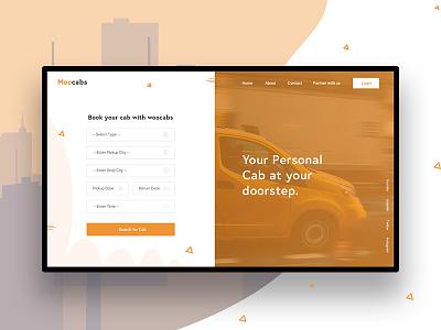 MooCab   Website Design Concept design clean ui ux ui application design website design