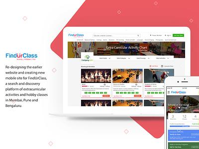 Classes Booking cover page design ui ux ui website landing page creative application design clean website design