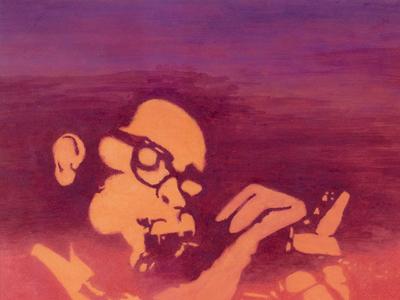 Dizzy Gillespie 1998 watercolor pencils jazz trumpeter musician bebop
