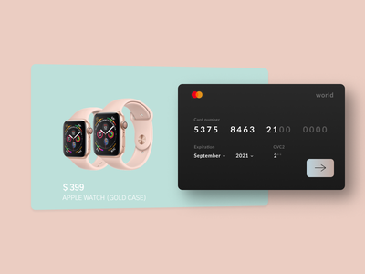 Daily UI 002 | Credit Card Checkout daily ui design credit card checkout dailyui 002 daily 100 challenge