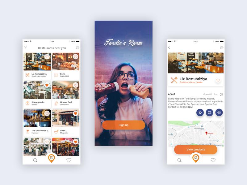 App For Finding Restaurants Near You By Karthi Keyan On Dribbble