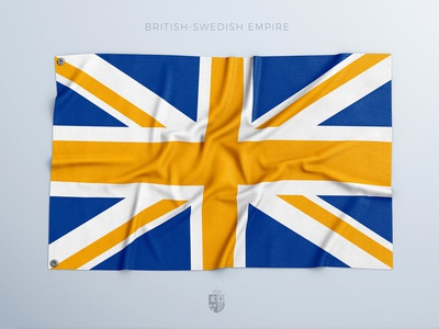 If the British-Swedish Empire was a thing sports freebie psd photoshop 3d template mockup flag