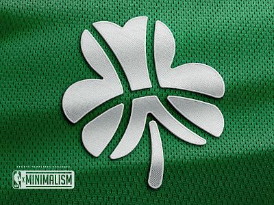 Boston Celtics Minimal NBA Logo Rebrand shamrock clover minimal logo nba celtics design freebie sports template mockup vray 3d psd