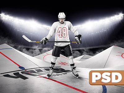 Hockey Rink Backdrop floodlight sports psd backdrop arena ice hockey