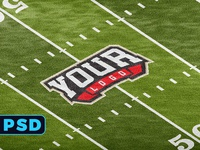 FOOTBALL FIELD 4K LOGO MOCKUP