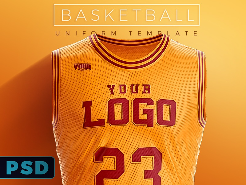 a02ef198b66 Basketball Uniform PSD Template by Ali Rahmoun