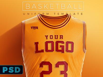 Basketball Uniform PSD Template final four playoffs nba cavaliers cavs lakers sports uniform mockup psd template basketball