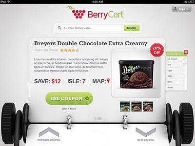 Supermarket App UI supermarket app ui 3d rolodex shopping ipad