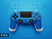 Playstation 4 Dualshock PSD Photoshop Mockup Template