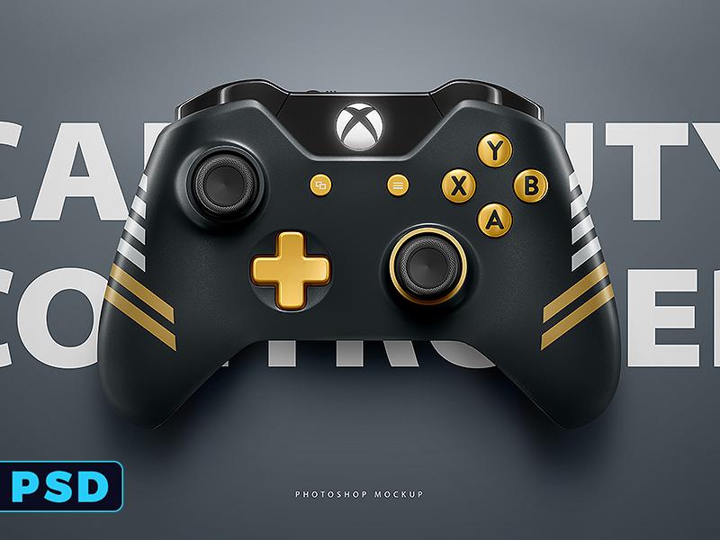 Xbox One PSD Photoshop Mockup Template by Ali Rahmoun on