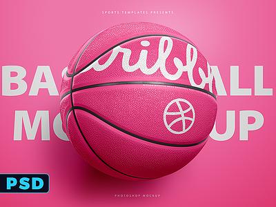 Basketball Ball photoshop Template Mockup hoop nba freebie free mockup psd template ball basket basketball