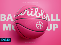 Basketball Ball photoshop Template Mockup